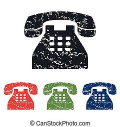 téléphone, ensemble, grunge, icône