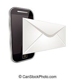 téléphone, envoyer, email