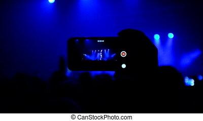 téléphone, exposer, concert