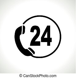 téléphone, fond blanc, icône