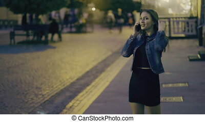 téléphone, girl, conversation