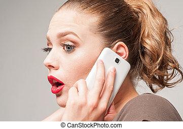 téléphone, girl