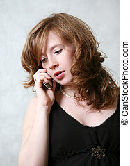 téléphone, girl, jeune