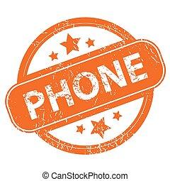 téléphone, grunge, icône