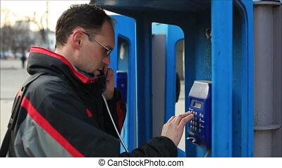 téléphone, homme 1, conversation