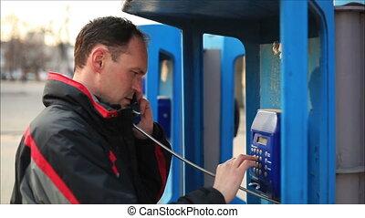 téléphone, homme 2, conversation