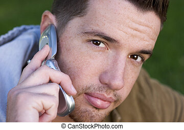 téléphone, homme