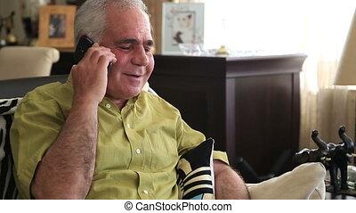 téléphone, hommes parler