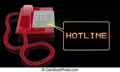 téléphone, hotline, urgence, rouges