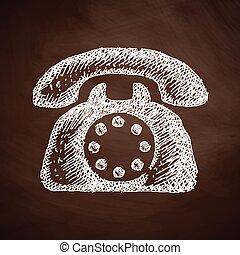 téléphone, icône