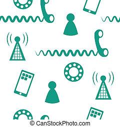 téléphone, icônes, 2, seamless