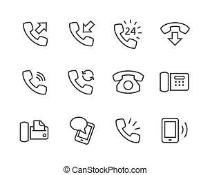téléphone, icônes