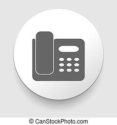 téléphone, icon., vecteur, bureau, illustration