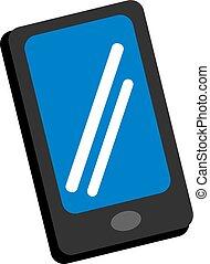 téléphone, illustration, blanc, vecteur, arrière-plan., mobile