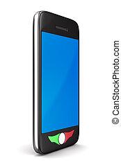 téléphone, image, isolé, arrière-plan., blanc, 3d