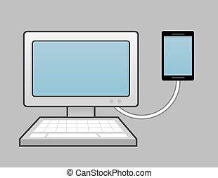 téléphone, informatique, connecté