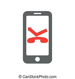 téléphone, intelligent, icône