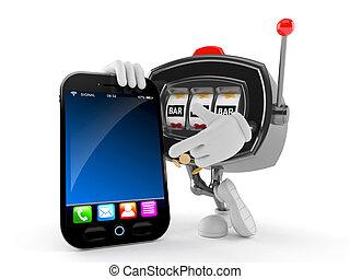 téléphone, intelligent, machine, caractère