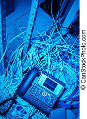 téléphone, intenet, données, salle, réseau