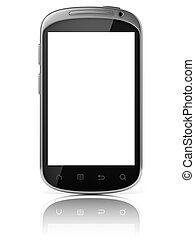 téléphone, isolé, intelligent