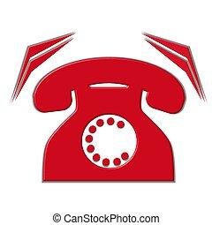 téléphone, isolé, sonner
