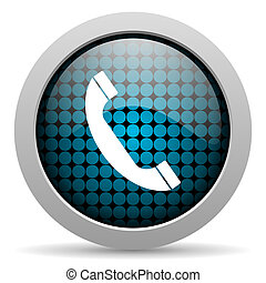 téléphone, lustré, icône