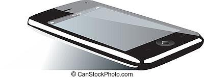 téléphone, mobile, écran, isolé, illustration, eps, arrière-plan., vecteur, vide, 8, blanc