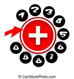 téléphone, monde médical, contact