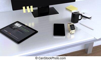 téléphone, montre, synchro, intelligent