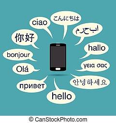 téléphone, multilingue
