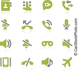 téléphone, natura, appelle, interface.