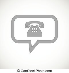 téléphone, noir, icône