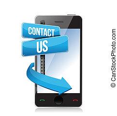 téléphone, nous contacter, signe