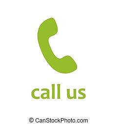 téléphone, nous, téléphone, vecteur, appeler, récepteur, icon.