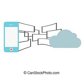 téléphone, nuage