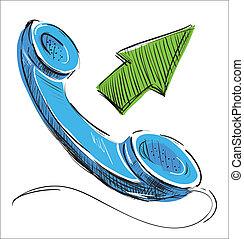 téléphone, outcoming, appeler