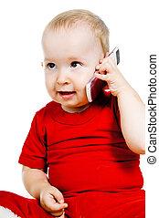 téléphone, petite fille