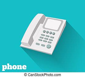 téléphone, plat