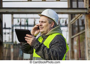 téléphone portable, électricien