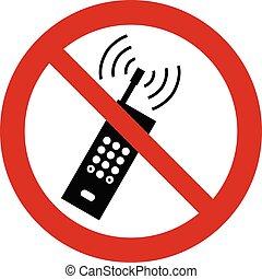 téléphone portable, activé, non