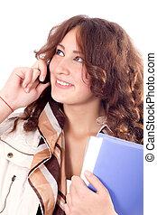 téléphone portable, affaires femme