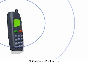téléphone portable, anneau, vibrer