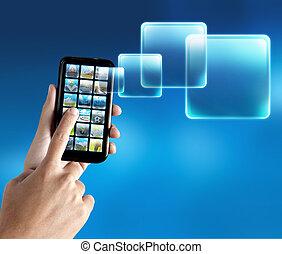 téléphone portable, application