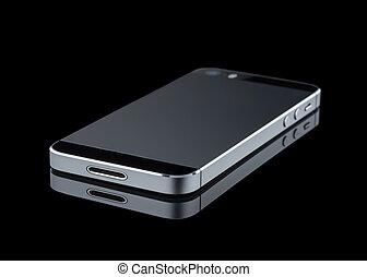 téléphone portable, arrière-plan noir