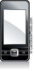 téléphone portable, blanc écran