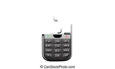 téléphone portable, blanc, arrière-plan.