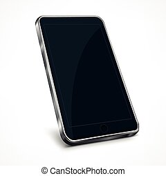 téléphone portable, blanc
