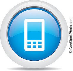 téléphone portable, blanc, isolé, fond