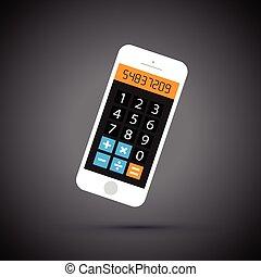 téléphone portable, calculatrice