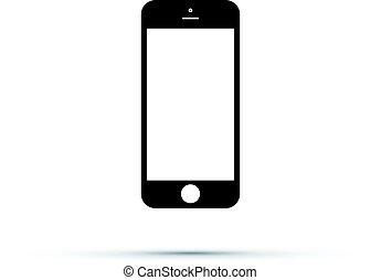 téléphone portable, cellule, icône